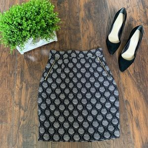 H&M Black White Skirt
